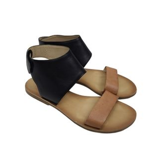 Lucky Brand Boopp Ankle Wrap Leather Sandals 6M